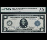 Fr. 998 1914 $20 FRN Minneapolis PMG 50